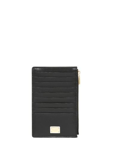 Dolce&Gabbana Dolce&Gabbana  Fermuarlı Kadın Deri Kartlık 101431182 Siyah